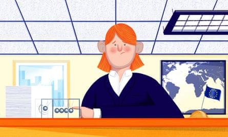 Illustration for a Secret Life of a Eurocrat