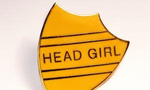 Head girl school badge