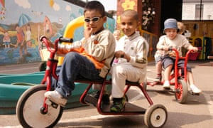Children playing at a nursery in Cardiff.