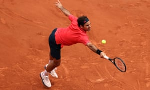 Roger Federer during his second-round match with Marin Cilic.