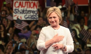 Hillary Clinton salutes the struggle for women's rights at a speech in Brooklyn: 'In our country, it started right here in New York, a place called Seneca Falls.'