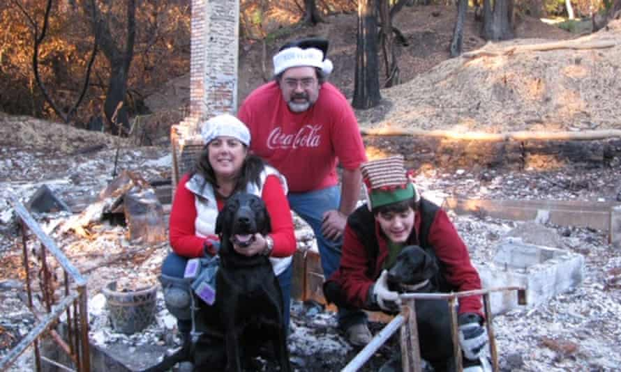The Frazee family Christmas card showed the rubble of their home destroyed by the 2017 Tubbs fire.