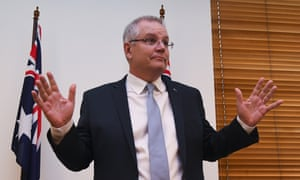 Australian prime minister Scott Morrison addresses a Coalition party room meeting at Parliament House in Canberra, September 11, 2018.