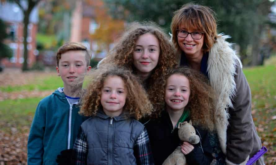 Rachel Hayden and her children, Charlie, 13, Esme and Ava, both eight, and Eli, 11.