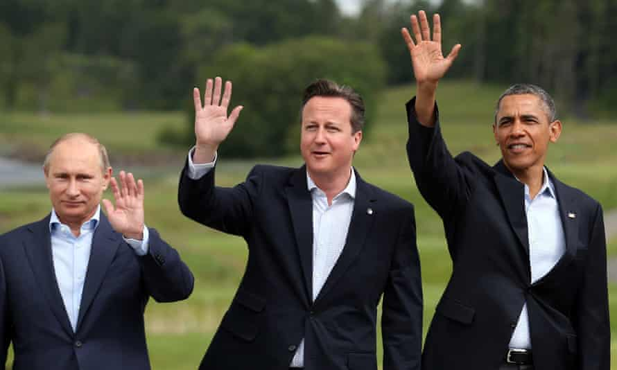 David Cameron pictured with Barack Obama and Vladimir Putin at the G8 summit at Lough Erne in 2013.