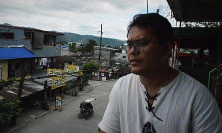 Father Gilbert Billena at a church in Quezon City, Manila