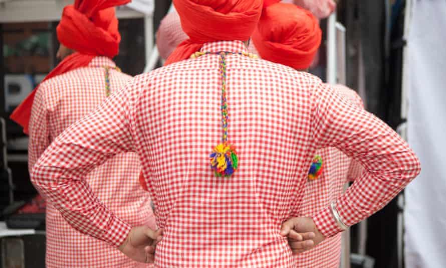 Dance group Flower City Bhangra prepares to perform at a Brampton festival.