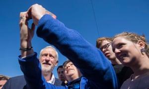 Jeremy Corbyn on the campaign trail.