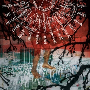 Tree-fingered Australopithecus, digital composition, 2000 by Stanley Donwood