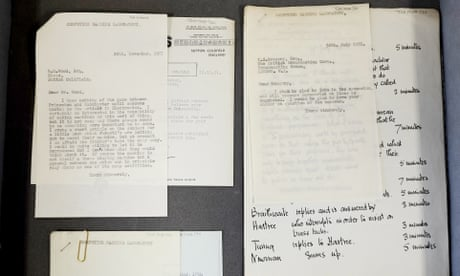Collection of letters by codebreaker Alan Turing found in filing cabinet