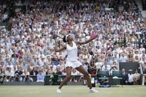 Venus Williams gets ready to smash the ball.