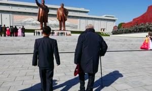 Claude Lanzmann in North Korea in his 2017 film Napalm.