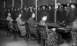 Women queue for unemployment benefit in 1919.
