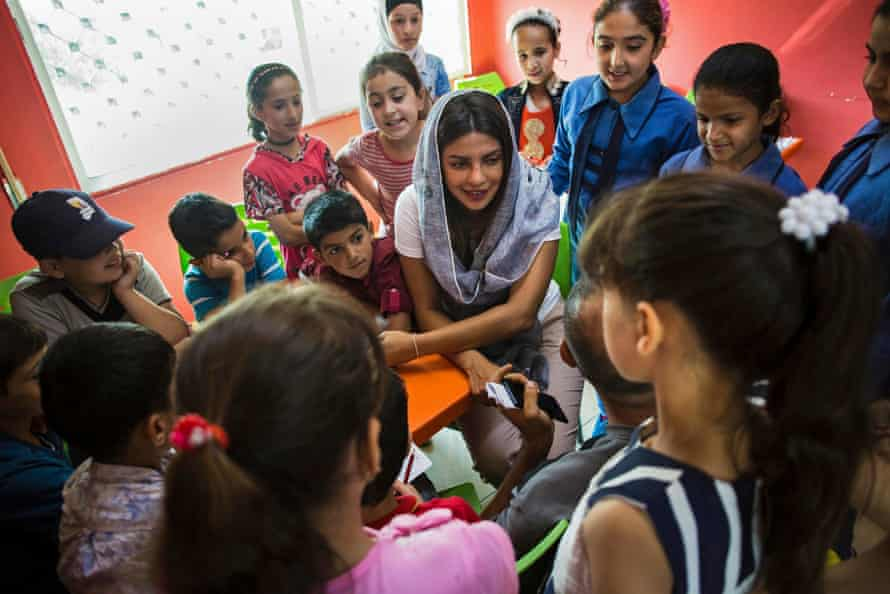 Priyanka Chopra Jonas working as a Unicef goodwill ambassador in Jordan