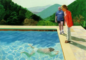Portrait of an Arts Minister (Pool with Two Figures) (after Hockney)