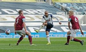 Moura scores for Tottenham.