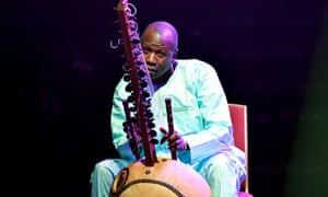 Ballaké Sissoko playing his 'impossible to replace' kora.