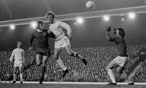 Paul Madeley vies for the ball with Liverpool's Kevin Keegan during a fourth-round match in the 1972 League Cup.