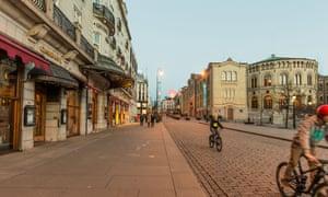 Karl Johan street in Oslo, Norway