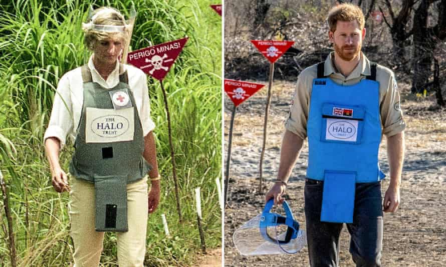 Prince Harry recently walked through a cleared minefield in Angola, echoing his mother's 1997 visit