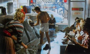 Kamen appearing in the iconic 501 advert for Levi's in a launderette