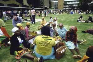 Participants at a conference in Nairobi, Kenya in 1985