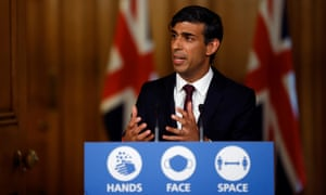 Rishi Sunak speaks during a virtual news conference on Thursday