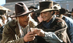 Christopher Lloyd and Michael J Fox in Back to the Future III