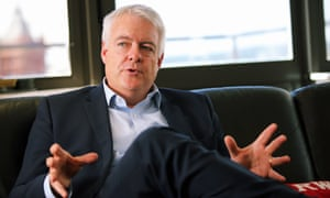 Carwyn Jones in his office at the Ty Hywel building in Cardiff Bay, Wales