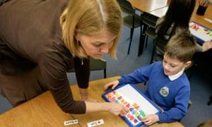 teacher and infant class child