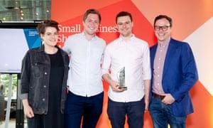 JustPark team with their award