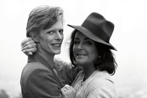 'David showed up stoned out of his head' … with Liz Taylor in 1975.