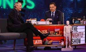 David Walliams and Martin Clunes on The Nightly Show