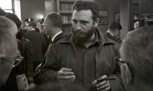 Castro speaks to reporters after addressing a National Press Club lunch in Washington DC in 1959, a few months after he seized power