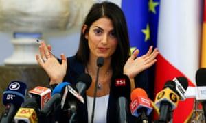 Rome's new mayor, Virginia Raggi.