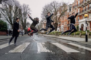 Sergei Polunin and his ballet company recreate the iconic Beatles record cover
