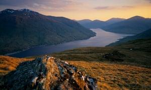 A view over Loch Lyon, Scotland