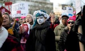 Protestors in Philadelphia, Pennsylvania