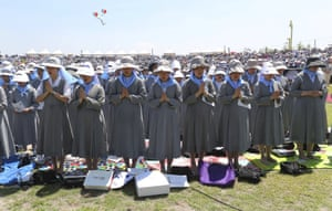 Paju, South Korea Catholic nuns pray for peace