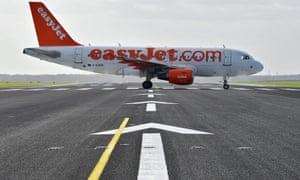 EasyJet plane at Schoenfeld airport in Berlin, Germany