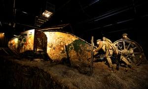 A first world war tank at the Bovington Tank Museum.