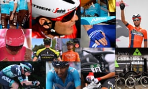 Some of the 22 teams who are taking part in the 2019 Tour de France.
