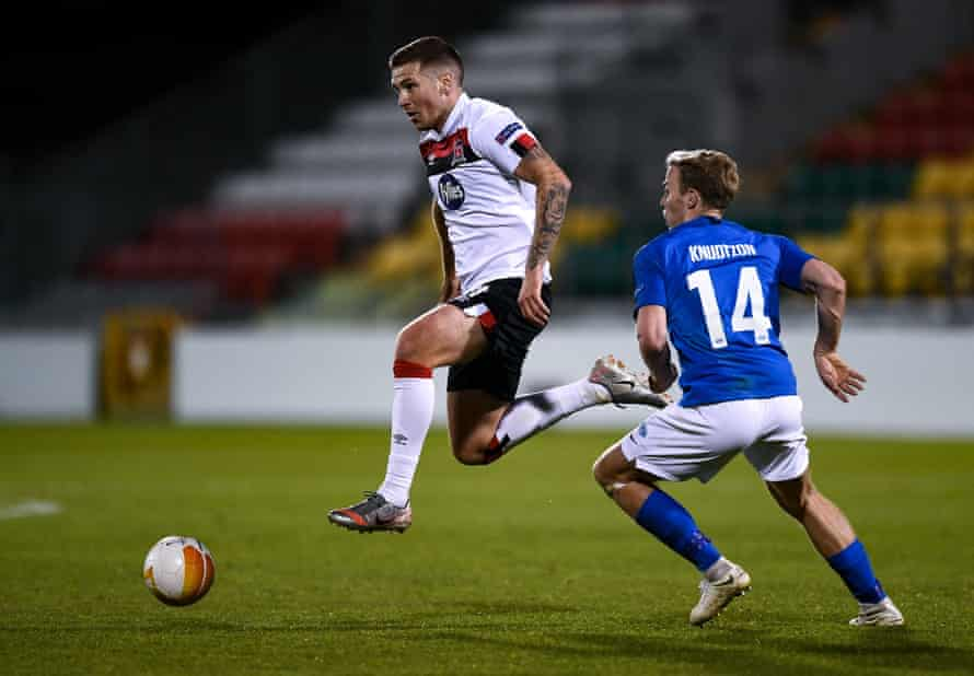 Dundalk's Patrick McEleney on the ball during the home defeat by Molde.