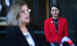 NSW premier Gladys Berejiklian (right) with chief health officer Dr Kerry Chant.