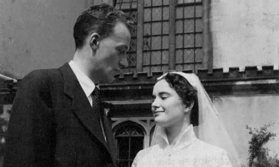 Albert and Mollie Bradshaw on their wedding day in 1955.