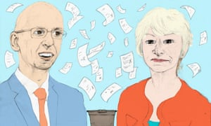 Illustration of vice-chancellors Malcolm Press and Nancy Rothwell