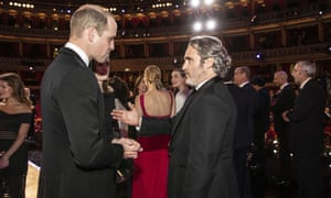 What the royals are actually for? … Prince William speaks to Bafta winner Joaquin Phoenix.
