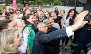 Sadiq Khan selfie
