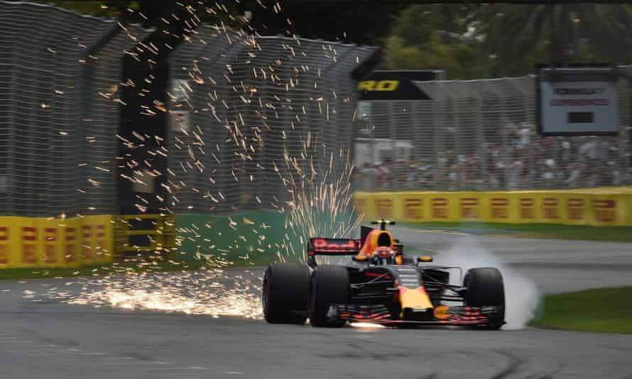 Sparks fly from Max Verstappen's Red Bull in qualifying session for the Australian Grand Prix three years ago. The 2021 calendar will kick off in Melbourne on 21 March.