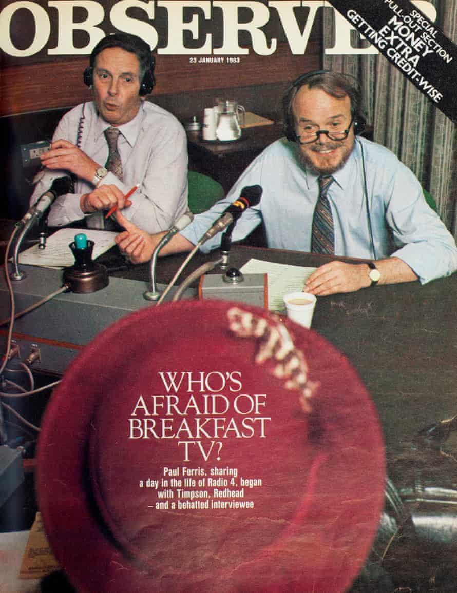 Men from Auntie… Radio 4 takes on breakfast TV, January 1983.